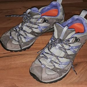 Merrell Athletic Shoes, Purple and Gray